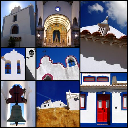 Set photos of traditional houses in Algarve, Portugal photo