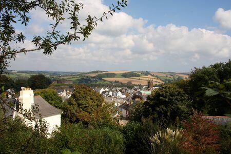 Panorama of Totnes , Devon, England photo