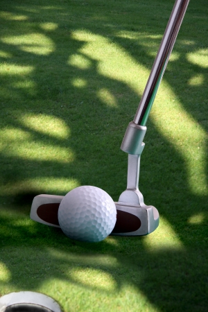 Golf club with ball photo