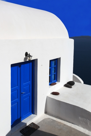 Santorini old house, Traditional white architecture in\ Greece
