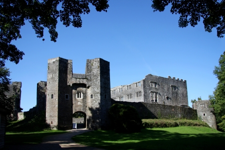 devon: old castle, Berry Pomeroy, Totnes,England Editorial