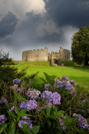 stately: Restormel Castle, Lostwithiel Cornwall England Stock Photo