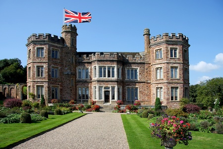 stately: English Castle, Mount Edgcumbe in Plymouth, Devon