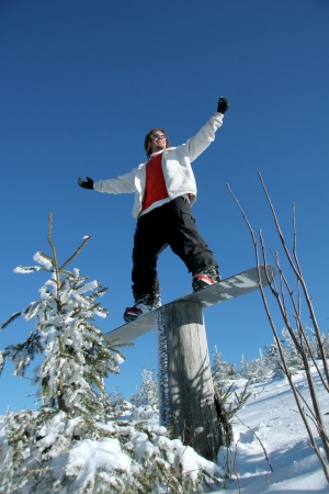 Happy Snowboarder Stock Photo - 14844502