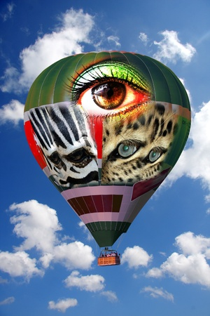 amazing air-balloon with faces photo