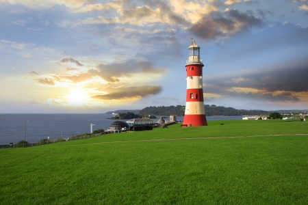 devon: beautiful lighthouse in Plymouth, UK