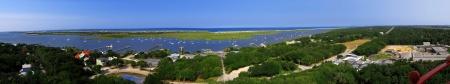 panorama of st  Augustine bay,Florida, US