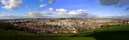 housing styles: Panorama of Plymouth, Devon, England