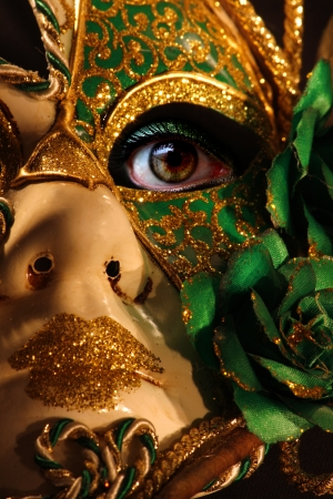 woman in carnival mask photo