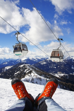 shoes with cable lift in Alps photo