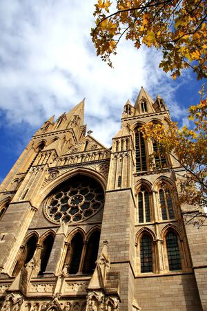neo-ghotic cathedral in Truro,Cornwall, England photo