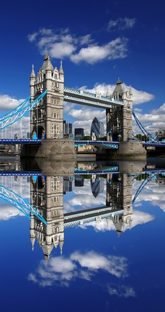 Famous Tower Bridge in London, England photo