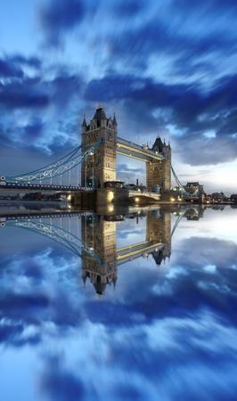 Tower Bridge in the evening, London, England photo