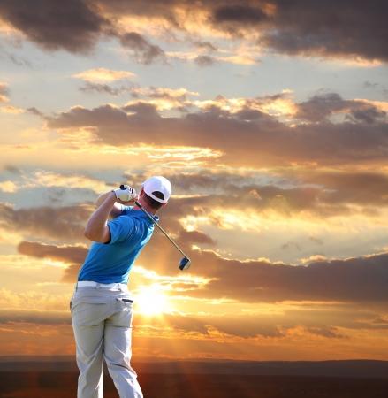 golfing: Man playing golf