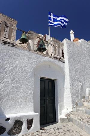 Santorin vieille maison, architecture traditionnelle blanche en Grèce Banque d'images - 15374845