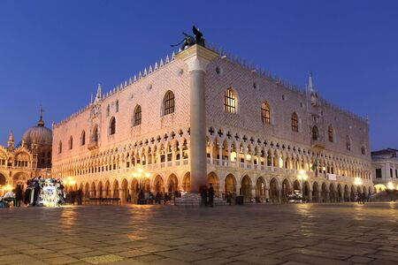 piazza san marco: Venice with Doge palace in  Italy