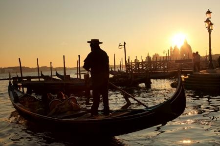 venice bridge: Sunset in Venice, Italy Stock Photo
