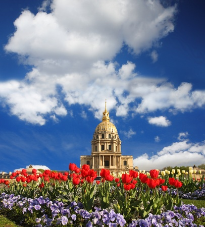 Paris, Les Invalides in spring time, famous landmark, France Stock Photo - 15426262