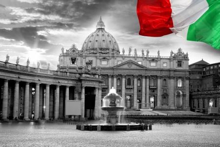 roma antigua: Basilica di San Pietro, Vaticano, Roma, Italia Foto de archivo