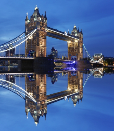 london tower bridge: Famous Tower Bridge in the evening, London, England