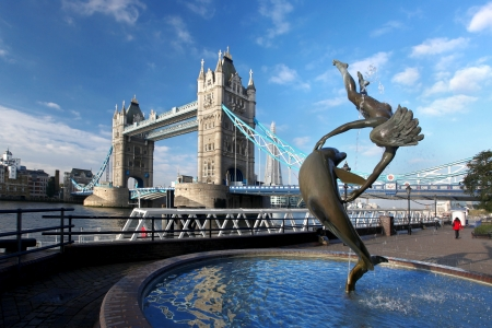 london city: Famous Tower Bridge in London, England