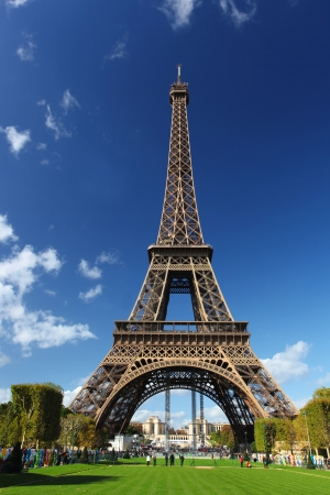 Eiffel tower with city park in Paris, France Stock Photo - 15976507