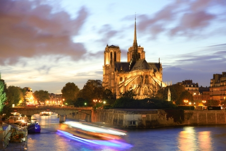 Notre Dame de Paris in the evening, France photo