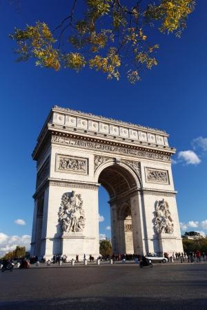 champs: Famous Arc de Triomphe in Paris, France