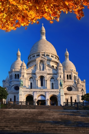Paris with Basilica of the Sacre Coeur in France photo