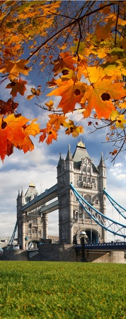 Famous Tower Bridge in Autumn, London, England photo