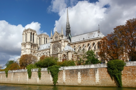 notre: Notre Dame cathedral in Paris, France Stock Photo