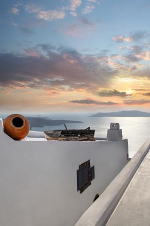 firostefani: Santorini island in Greece