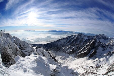 swiss alps: Amazing view of High Mountains in the winter