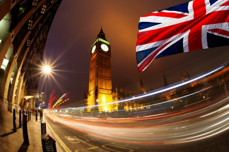 Famous Big Ben in the evening, London,  England