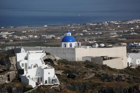 molino de agua: Isla de Santorini en Grecia