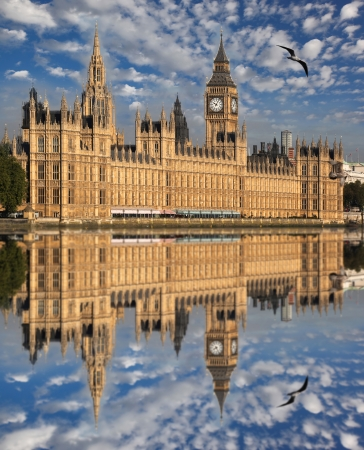 city of westminster: Big Ben and Houses of Parliament, London, UK Stock Photo