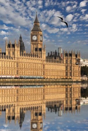 european parliament: Big Ben and Houses of Parliament, London, UK Stock Photo