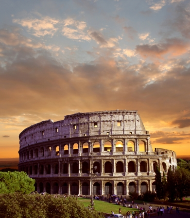 colosseum: Famous Colosseum in  Rome, Italy Stock Photo