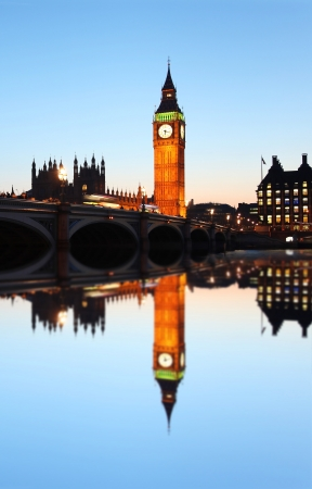 thames: Big Ben in the evening, London, England
