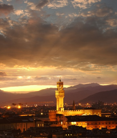 Florence city in the evening, Italy Stock Photo - 18920133