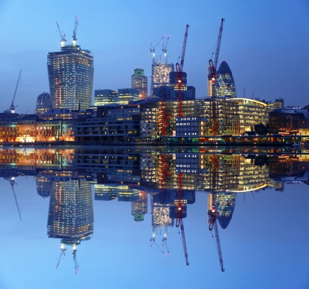 Modern London cityscape in  LONDON, UK photo