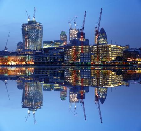 Modern London cityscape in  LONDON, UK