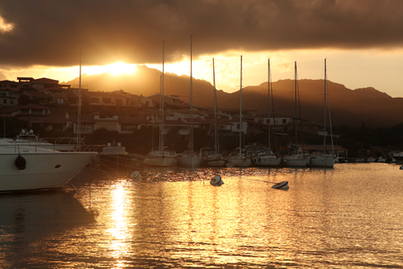 rotondo: Porto Rotondo harbor in Sardinia, Costa Smeralda, Italy