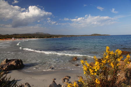 Costa Smeralda with amazing beach Rene Bianca, Sardinia photo
