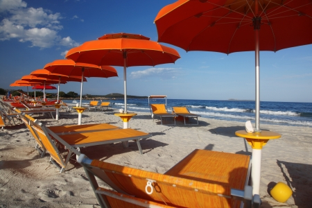 rotondo: Costa Smeralda with amazing beach Rene Bianca, Sardinia Stock Photo
