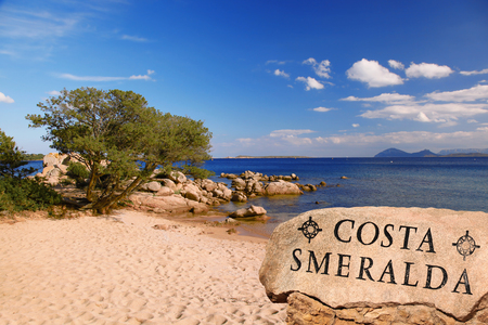 Sardinia coast with famous part of Costa Smeralda with amazing beaches in Italy 版權商用圖片