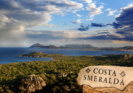 Sardinia coast with famous part of Costa Smeralda with amazing beaches in Italy Stock Photo - 23518007