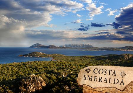 Sardinia coast with famous part of Costa Smeralda with amazing beaches in Italy Stock Photo - 23518007
