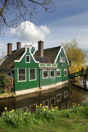 Traditional house in Zaanse Schans,  Amsterdam, Holland photo