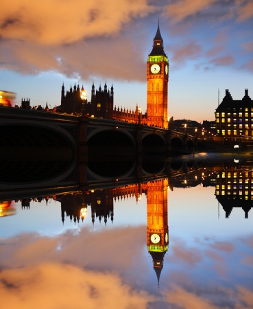 Big Ben in the evening, London, England photo
